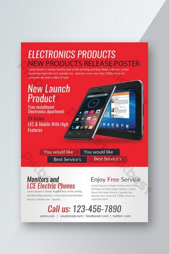 Brochure commerciale sur la sortie de nouveaux produits électroniques Modèle PSD
