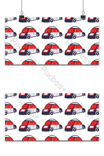 Seamless Car Pattern Backgrounds Template AI