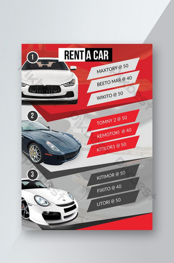 Rent a Car and Car Service Business Flyer Template PSD