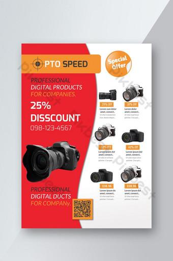 Dépliant promotionnel de lancement de produit et de remise Modèle PSD