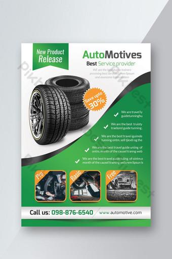 Dépliant sur les motifs automobiles pour la promotion des produits commerciaux Modèle PSD