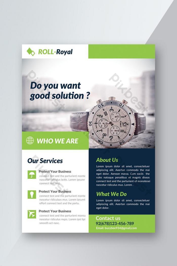 good idea business solution flyer