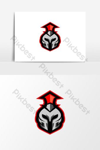 guerrero e sport logo mascota del juego Elementos graficos Modelo AI