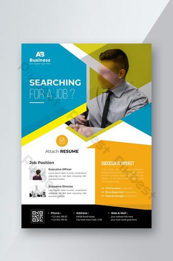 Dépliant de recrutement de postes vacants Modèle AI