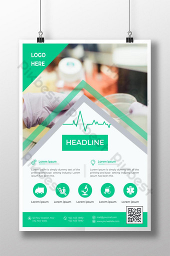 Conception de flyers médicaux de soins de santé Modèle AI