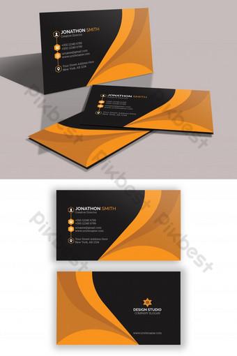 Conception de carte de visite professionnelle créative d'entreprise PSD Modèle PSD