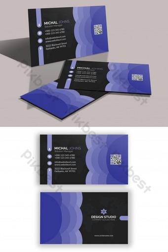 diseño de tarjeta de visita simple psd Modelo PSD