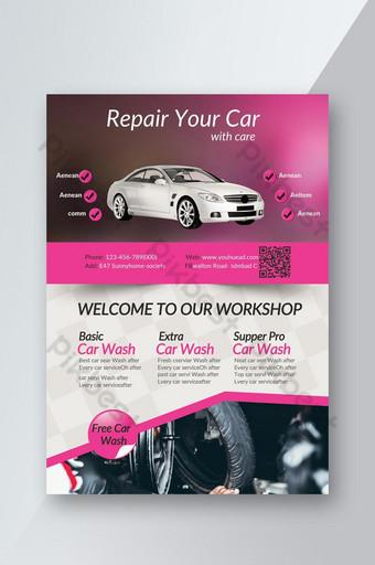 Car Repairing Service Business Flyer Template PSD