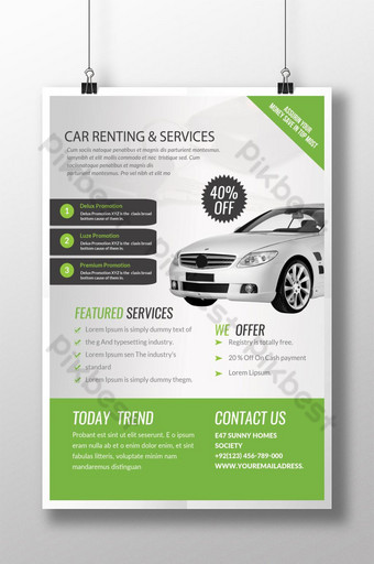 Car Service Station and Garage Business Poster Template PSD