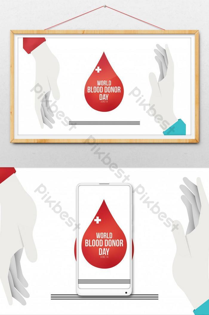 vetor de ilustração do pôster do dia mundial do doador de sangue