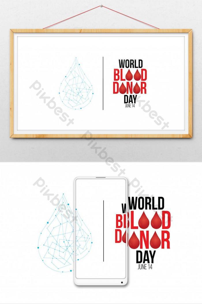ilustração em vetor do conceito doar sangue para o dia 1 do doador mundial de sangue
