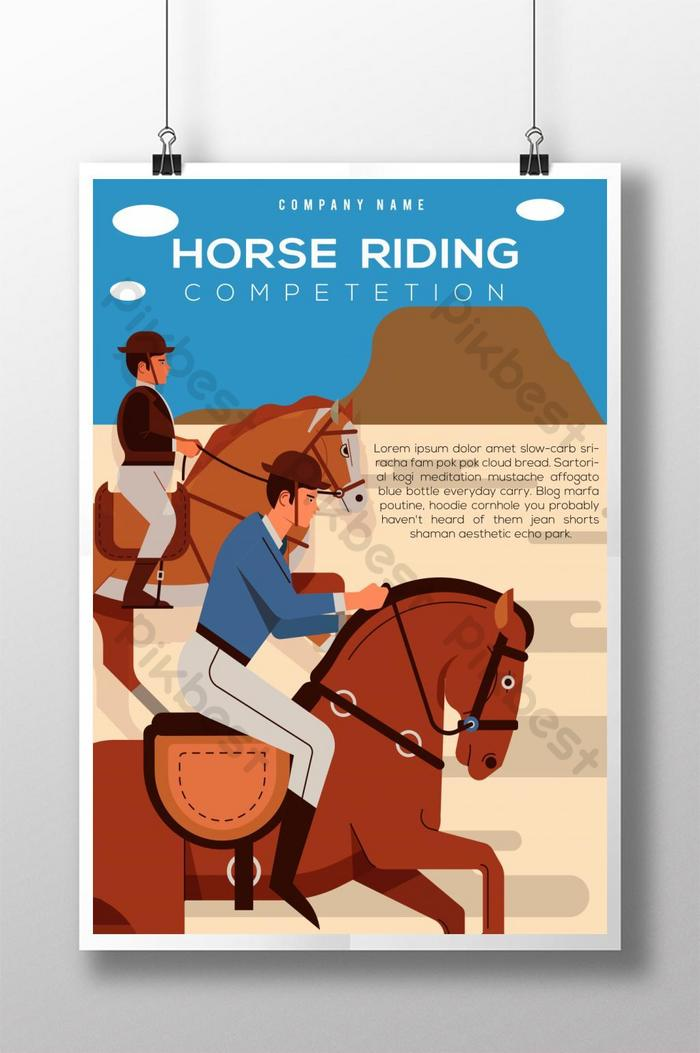 Horse Riding Race Poster Ai Free Download Pikbest