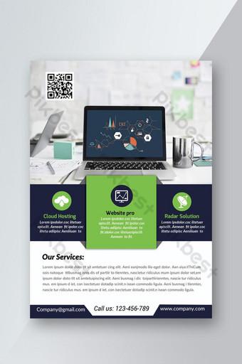 pamflet bisnis teknologi informasi atau layanan itu Templat PSD