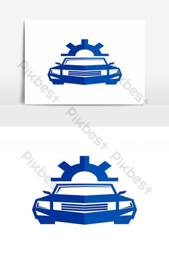 diseño de logotipo de servicio de coche Elementos graficos Modelo AI