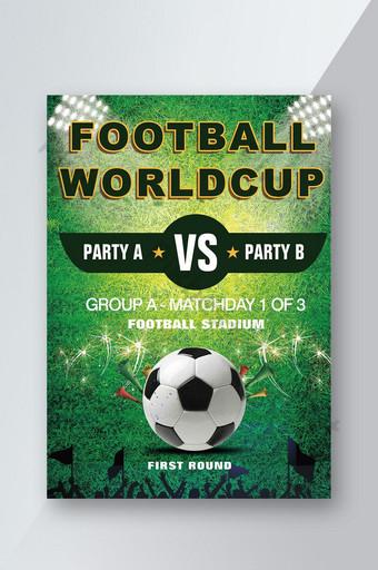 design de folheto de jogo de futebol Modelo PSD
