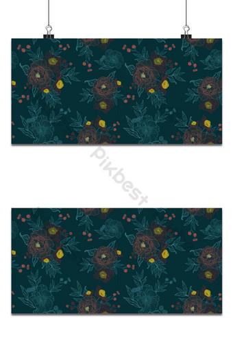 tela de patrones sin fisuras ramo de peonías pintura vectorial fondo floral color brillante Fondos Modelo AI