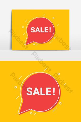 Penjualan Spanduk Template Konsep Tata Letak Promosi Diskon Elemen Grafis Templat EPS