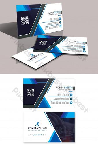 Belle carte de visite bleue moderne Modèle PSD