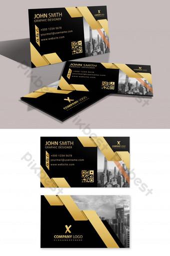 Carte de visite moderne en or Modèle PSD