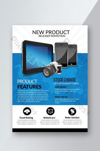 Dépliant de promotion de lancement de nouveaux produits Modèle PSD
