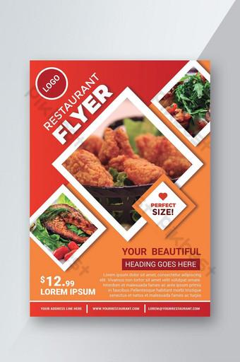 Templat pamflet restoran Templat AI