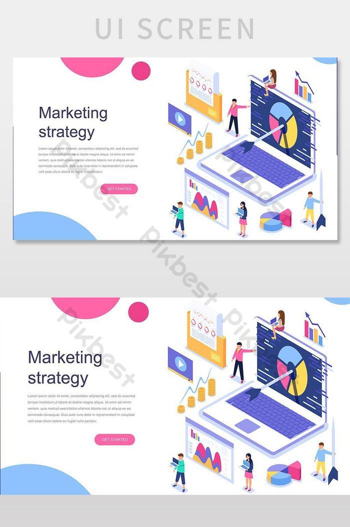 skrin ui halaman pendaratan strategi pemasaran
