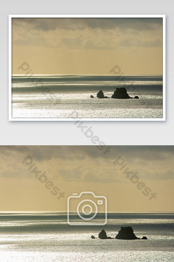 The beauty of the sky In the sea and island at Chumphon in Thailand. Photo Template JPG