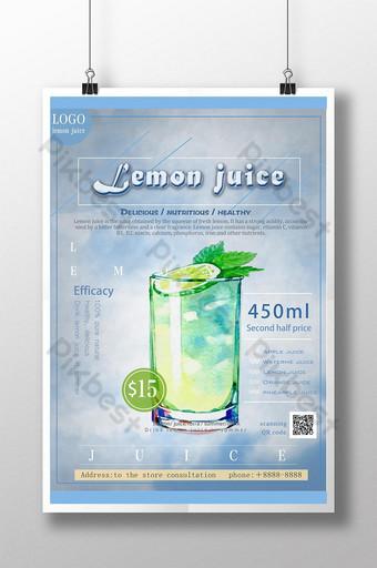 الصيف الجليد شرب عصير الليمون شرب نشرة ترويجية قالب PSD