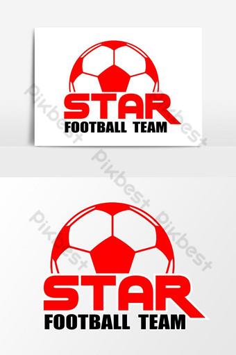 Elemento gráfico de vetor de logotipo de time de futebol elegante Elementos gráficos Modelo AI