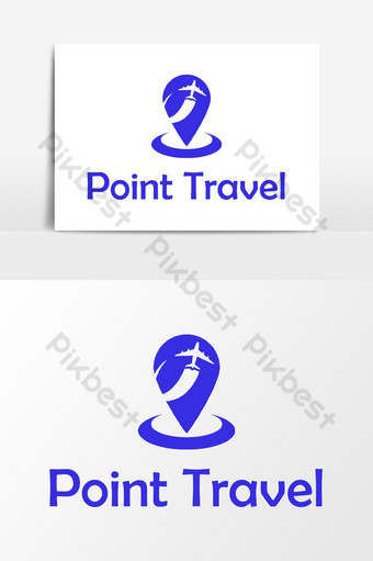Unique Point Travel Logo Vector Graphic Element PNG Images Template PSD