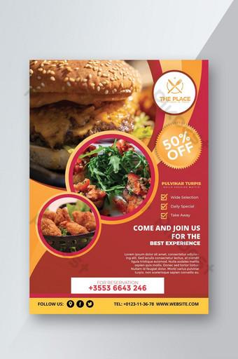 modèles d'affiches flyers offre restaurant Modèle AI