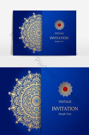 Conception élégante de carte Save The Date Modèle de carte d'invitation floral vintage Tourbillon de luxe m Éléments graphiques Modèle EPS