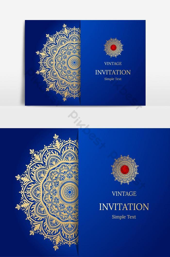 elegant save the date card design เทมเพลตการ์ดเชิญลายดอกไม้วินเทจหรูหราหมุนม