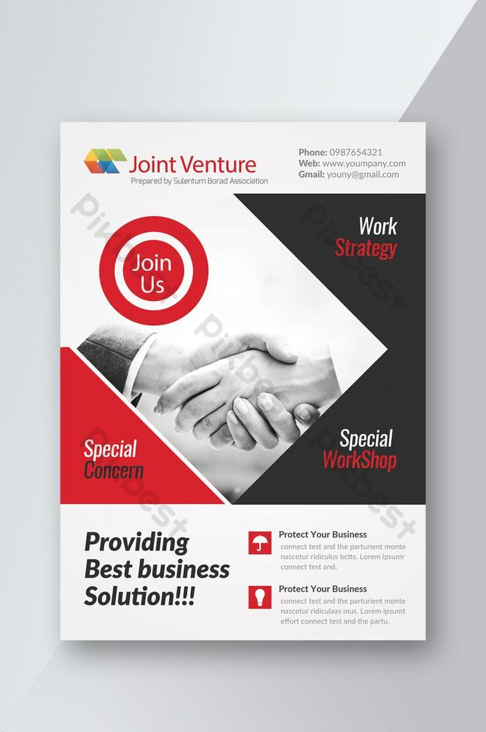 providing business solution corporate flyer