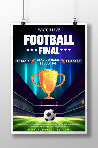 pôster criativo e moderno de esportes de futebol Modelo AI
