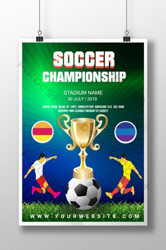 pôster do campeonato de futebol da organização esportiva Modelo AI