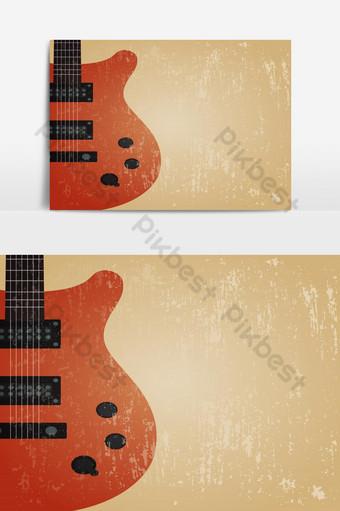 grunge guitarra electrica guitarra retro antecedentes Elementos graficos Modelo EPS