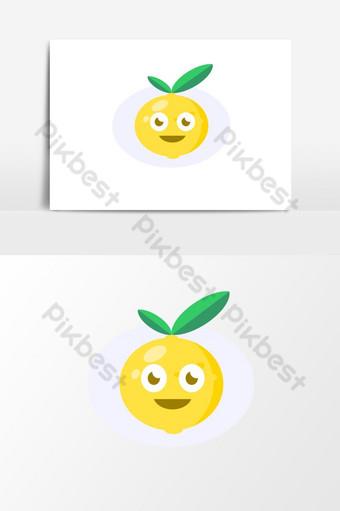 فاكهة الليمون السعيد صور PNG قالب EPS