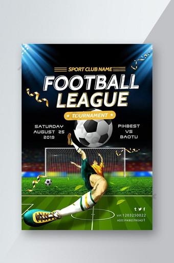 folheto da partida da liga de futebol Modelo PSD