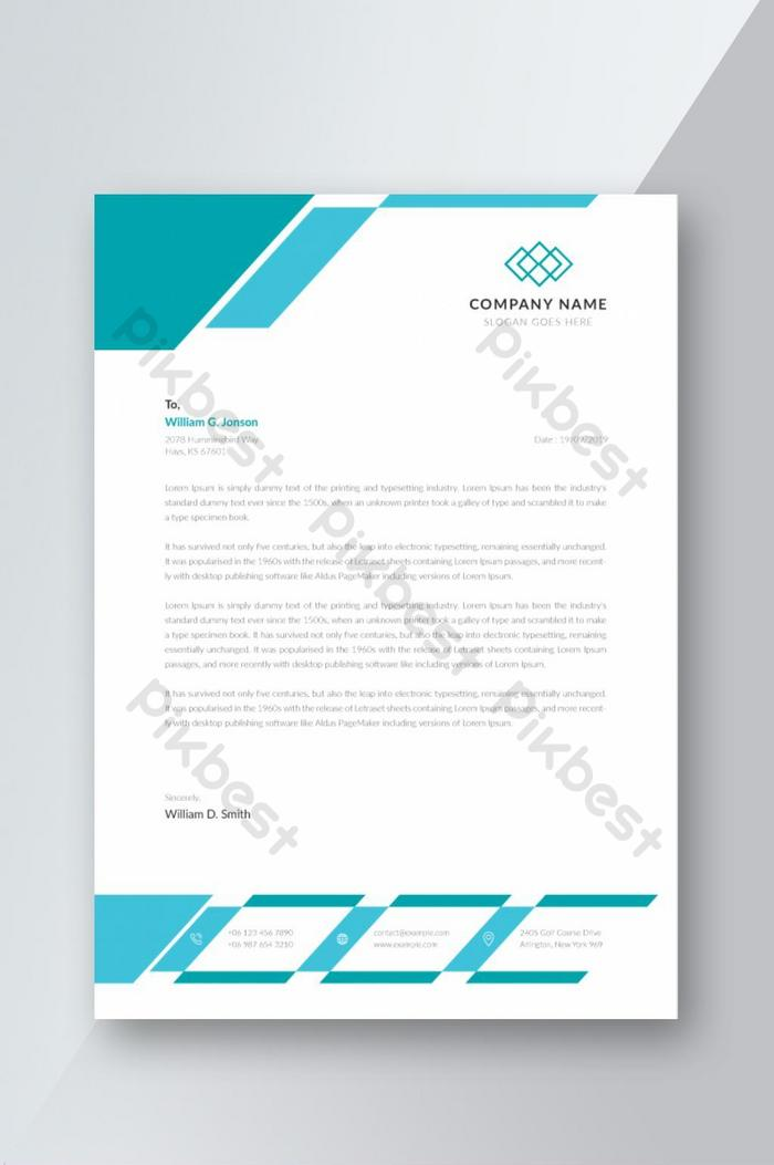 Letterhead Template Ai Free Download Pikbest