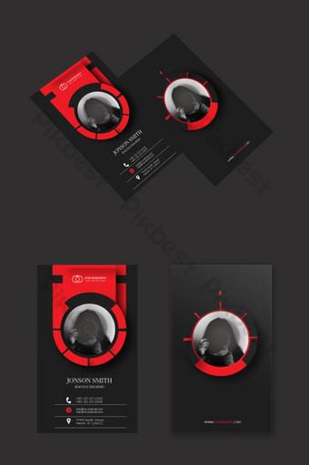 tarjeta de visita creativa anillo rojo Modelo AI