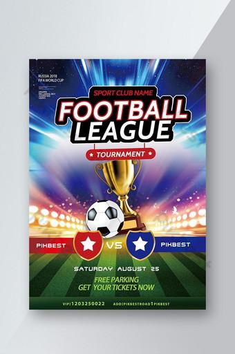 folheto simples e criativo de jogo de futebol Modelo PSD
