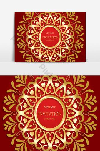 elegante guardar la tarjeta de fecha elemento gráfico de vector floral y lujoso vintage Elementos graficos Modelo EPS