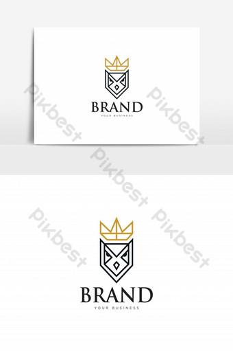 elemento gráfico de vector de logotipo de búho rey Elementos graficos Modelo AI