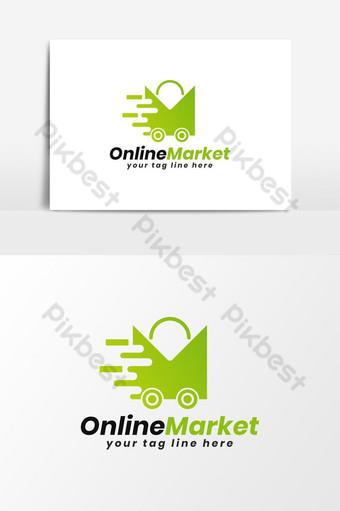tienda online m carta logo vector elemento gráfico Elementos graficos Modelo AI