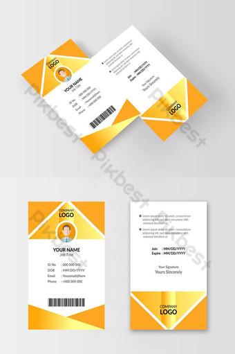 Modèle de carte d'identité jaune Nice Modèle AI