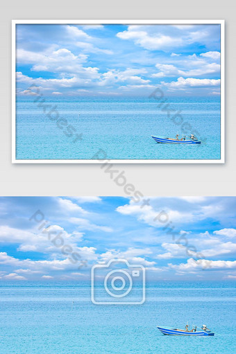 Fishing boats parked on the Beach at Koh Kood, Trat in Thailand. Photo Template JPG