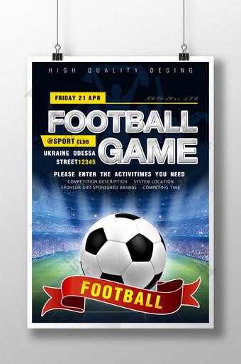 pôster de jogo de futebol Modelo PSD