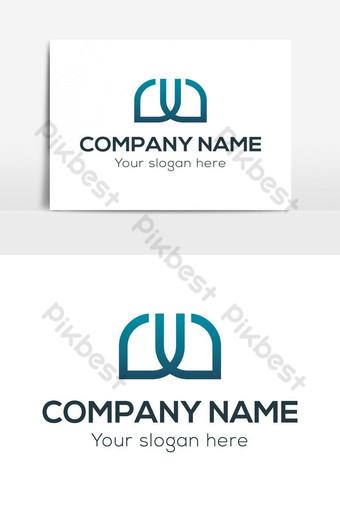 elemento gráfico creativo del vector del logotipo de la letra w y v Elementos graficos Modelo EPS