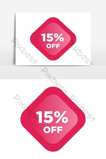 Diskon 15 diskon penjualan promosi poster brilian iklan spanduk liburan penjualan hari valentine Elemen Grafis Templat AI